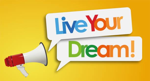 Leben Sie Ihren Traum – Vektorgrafik