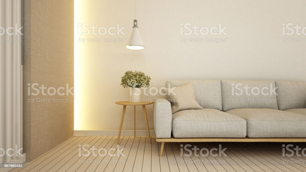 living area in apartment  or hotel vector art illustration