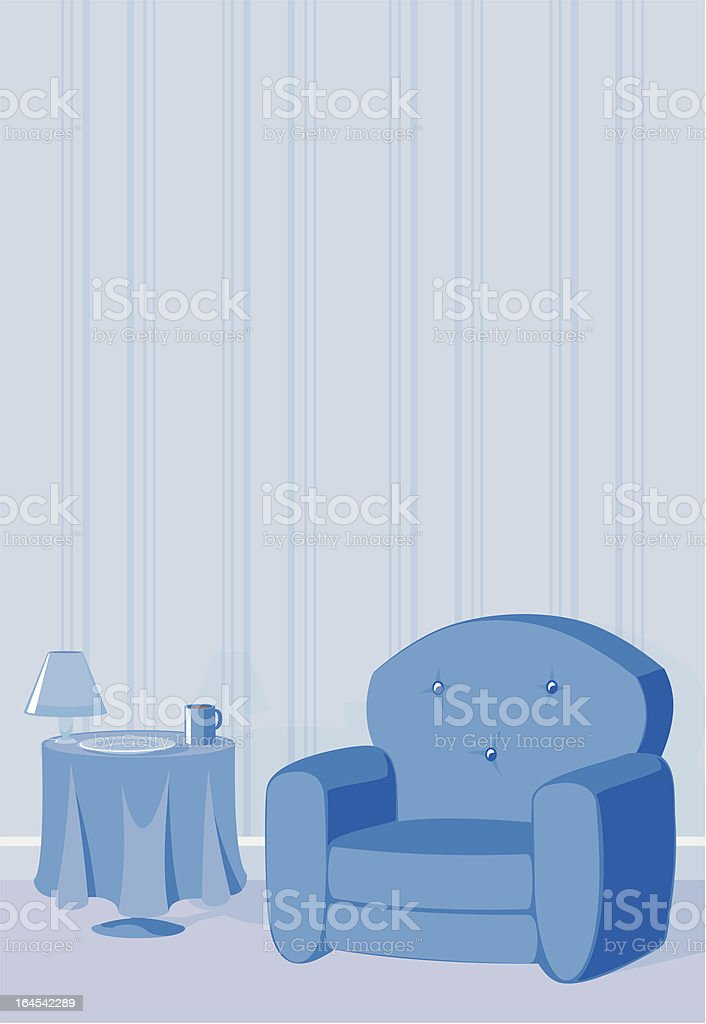 Living Room With Copy Space vector art illustration