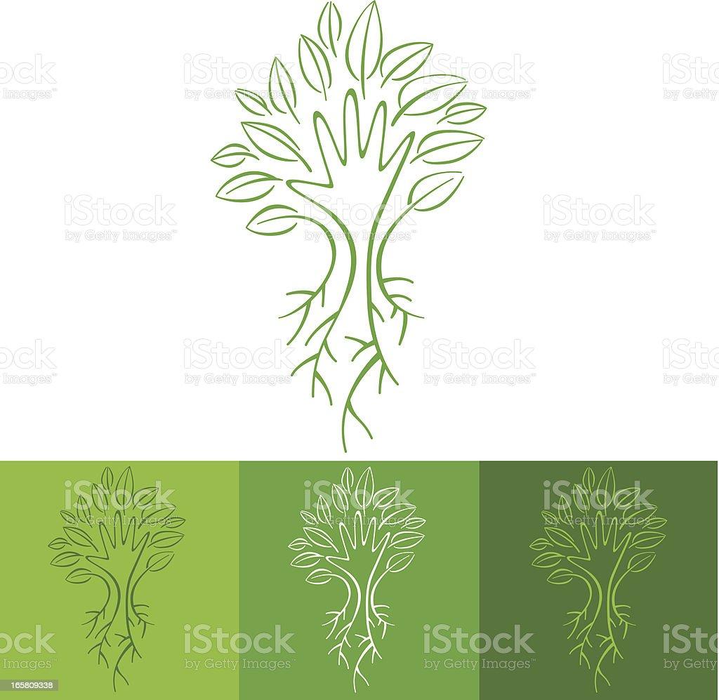Living tree vector art illustration