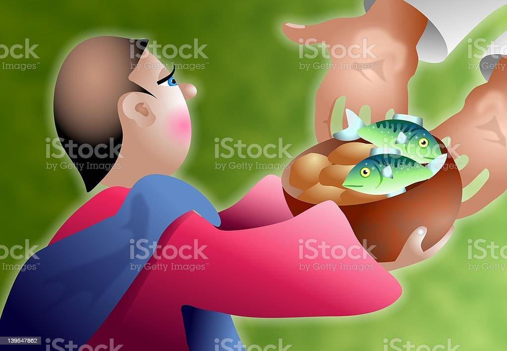 Loaves et poissons - Illustration vectorielle