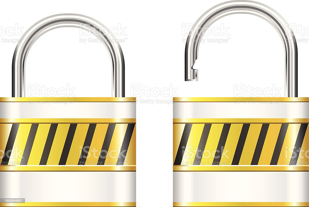 Lock royalty-free stock vector art