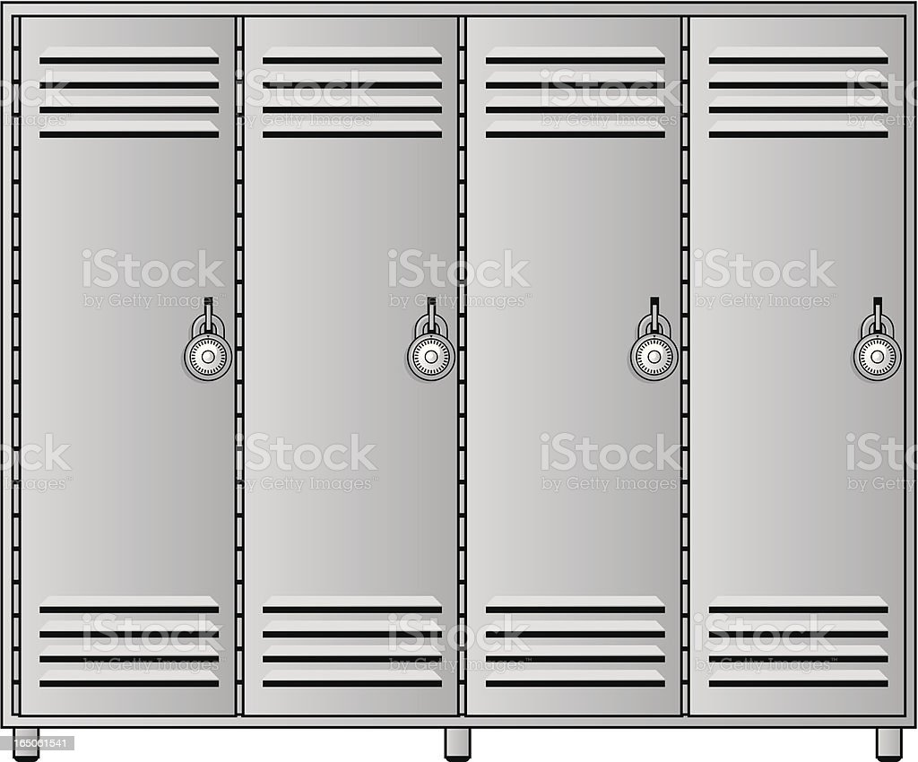 locker room royalty-free stock vector art