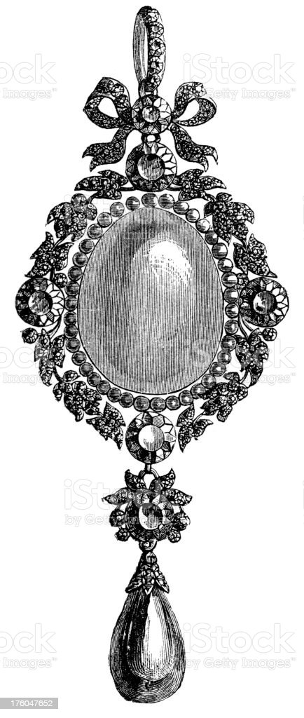 locket royalty-free stock vector art