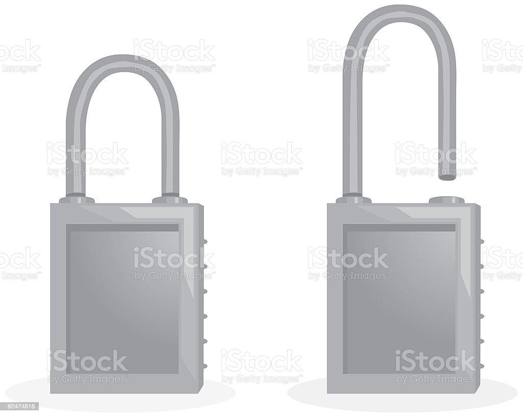 Locks vector art illustration