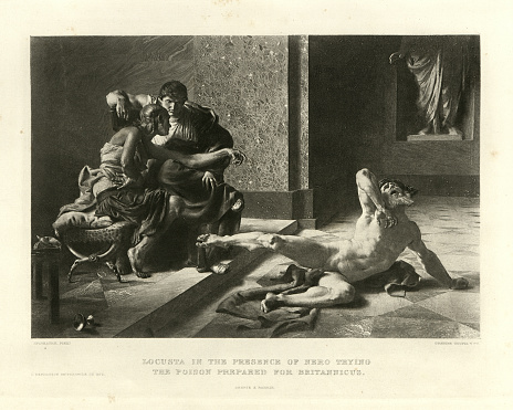 Locusta and Nero trying the poison on a slave