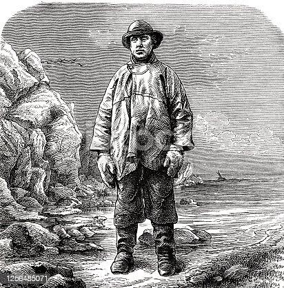 istock Lofoten fishermen, standing at the sea 1256485071