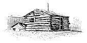 istock Log Cabin 946103220