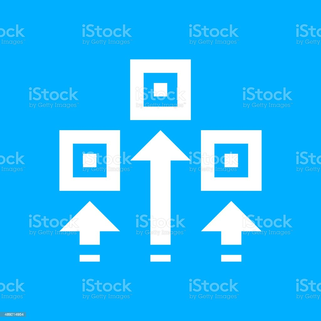 Logistics icon on a blue background. royalty-free logistics icon on a blue background stock vector art & more images of 2015