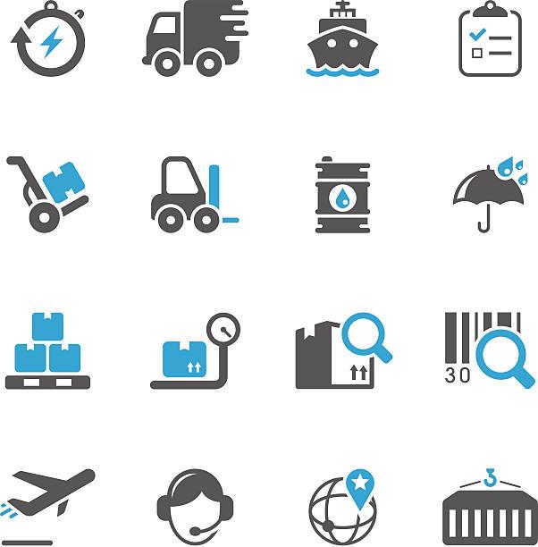 & logistik und versand-icon-set/präzise series - frachtpaletten stock-grafiken, -clipart, -cartoons und -symbole