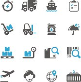 Logistics & Shipping Icon Set | Concise Series