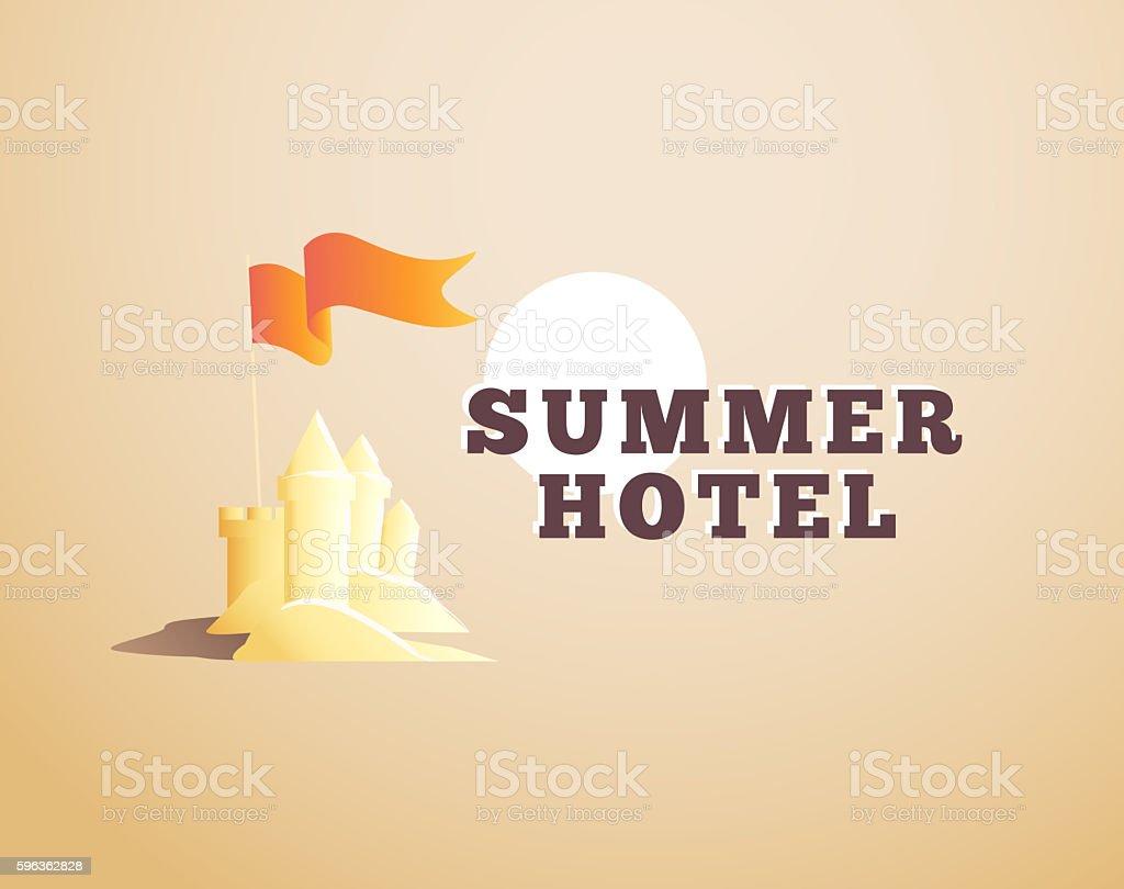 Logo, emblem, label for summer holiday rest hotel isolated. royalty-free logo emblem label for summer holiday rest hotel isolated stock vector art & more images of cartoon