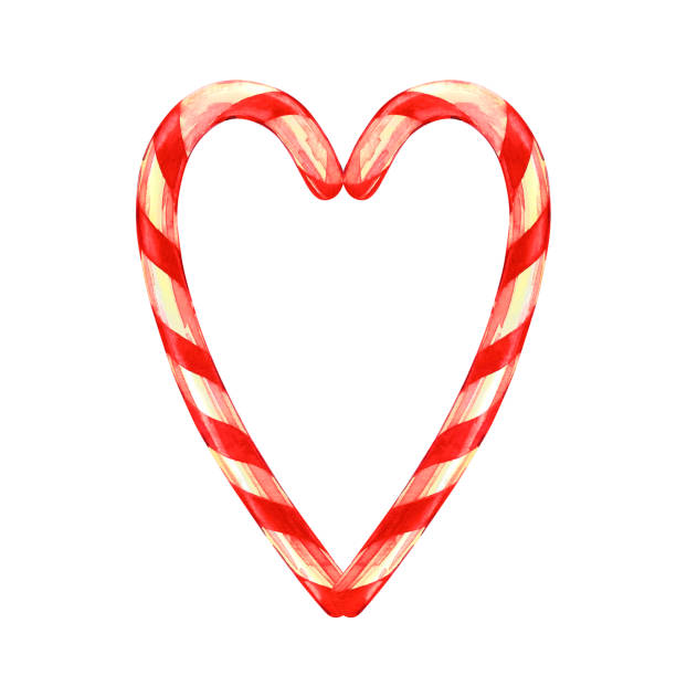 Best Candy Cane Heart Illustrations, Royalty-Free Vector ...