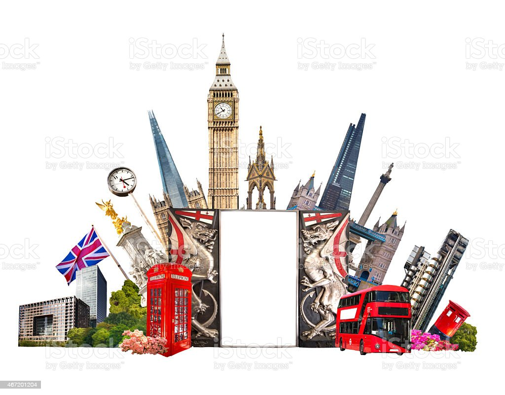 London, Business and tourist's interests vector art illustration