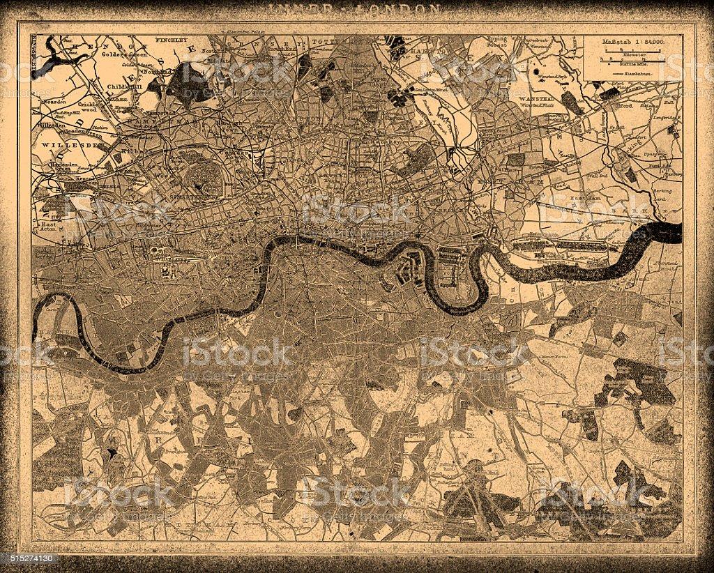 London city map vector art illustration