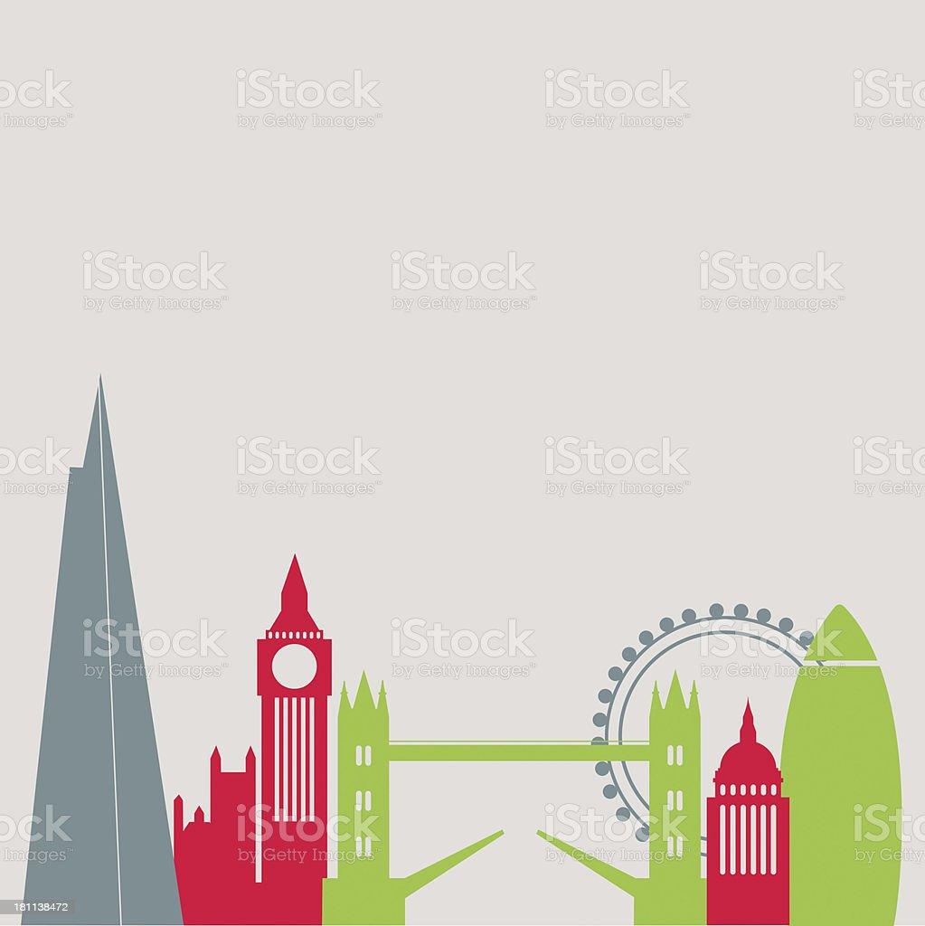 London city skyline vector art illustration