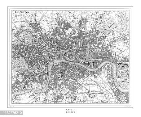 istock London Engraving Antique Illustration, Published 1851 1172776210