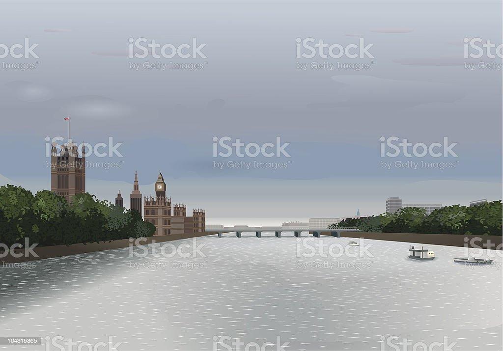 London - Thames View royalty-free stock vector art