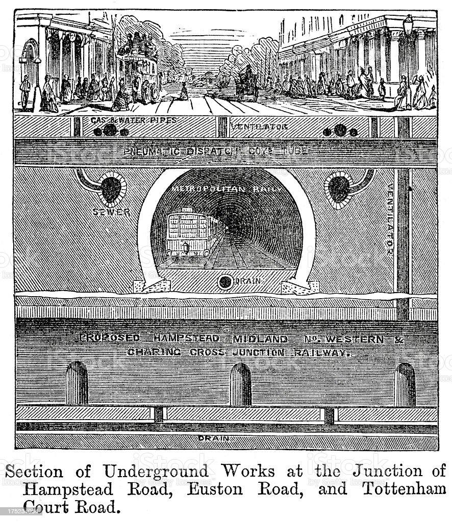 London Underground Railway royalty-free stock vector art