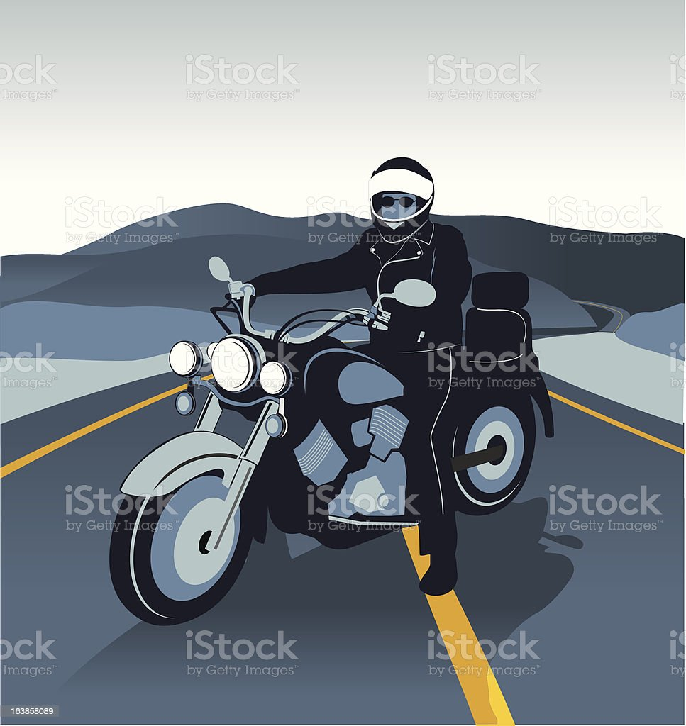 Lonely biker royalty-free lonely biker stock vector art & more images of adult