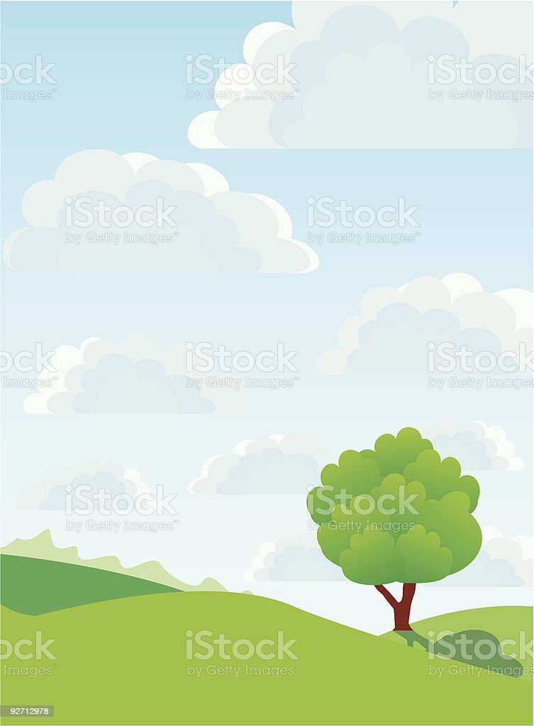 Lonely tree, vector royalty-free stock vector art