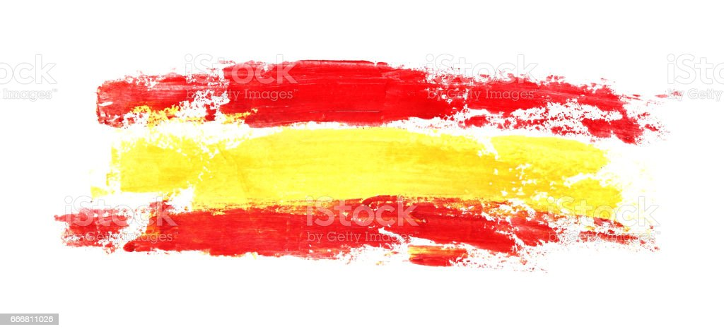 Long flag of Spain vector art illustration