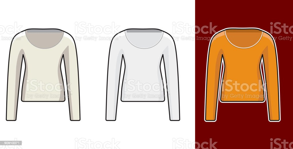 longsleeve girls royalty-free stock vector art