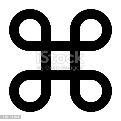 Looped square symbol