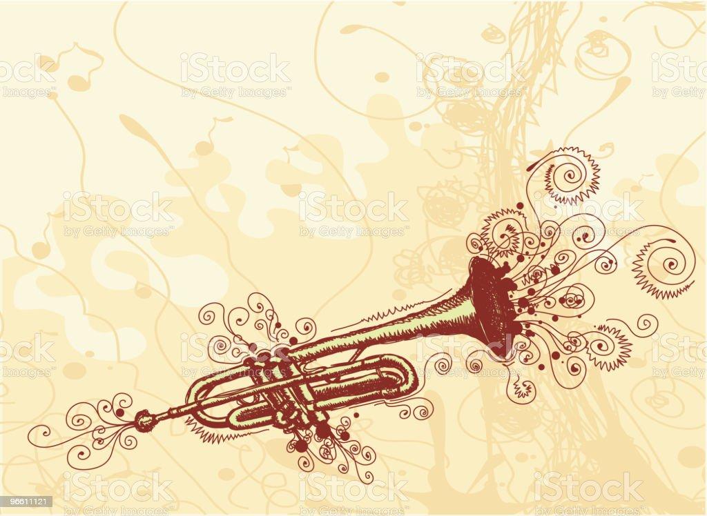 Свободный Trumpet - Векторная графика Бежевый фон роялти-фри