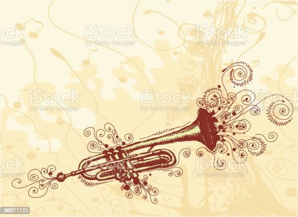 Свободный Trumpet — стоковая векторная графика и другие изображения на тему Бежевый фон