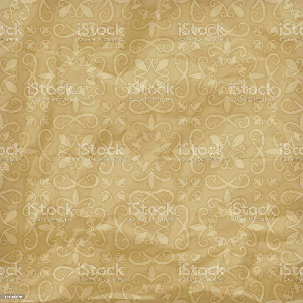 loral pattern on crumpled foil paper royalty-free loral pattern on crumpled foil paper stock vector art & more images of backgrounds