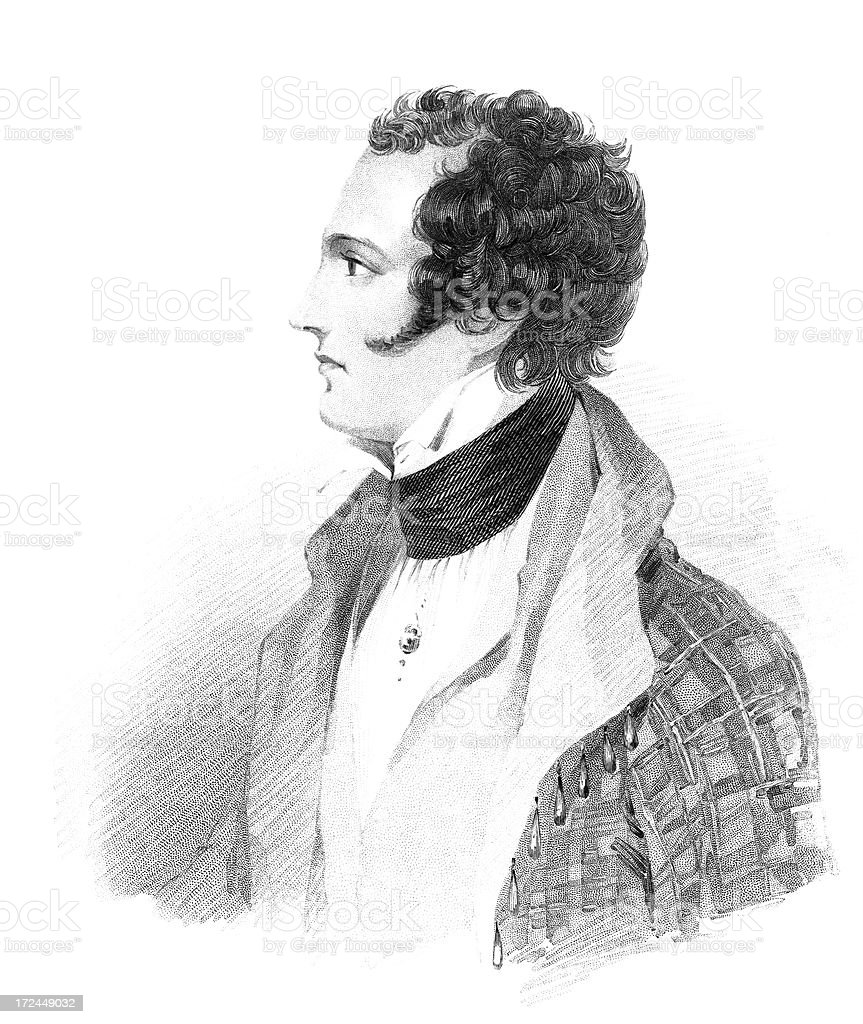 Lord Byron royalty-free stock vector art