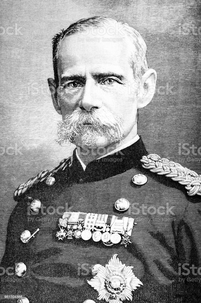 Lord General Roberts of Kandahar vector art illustration