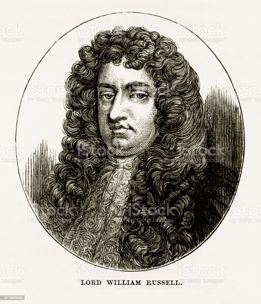 Lord William Russell of Woburn, England Victorian Engraving, Circa 1840 vector art illustration