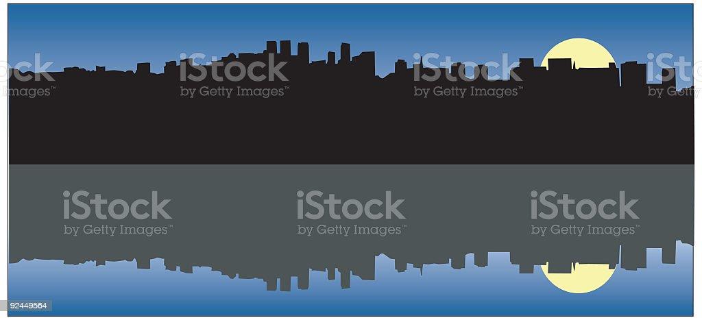 Los Angeles Skyline royalty-free stock vector art