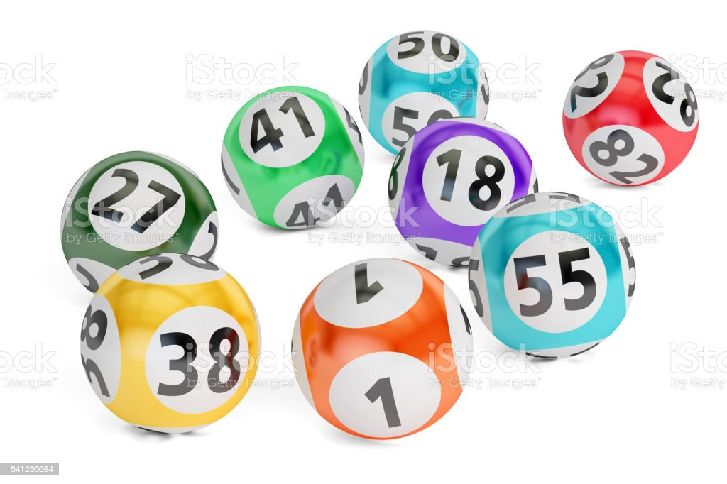 lottery balls closeup, 3D rendering isolated on black background vector art illustration