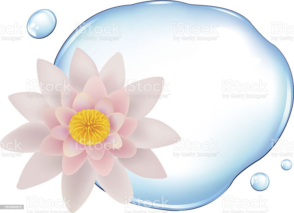 Lotus Over Water royalty-free stock vector art