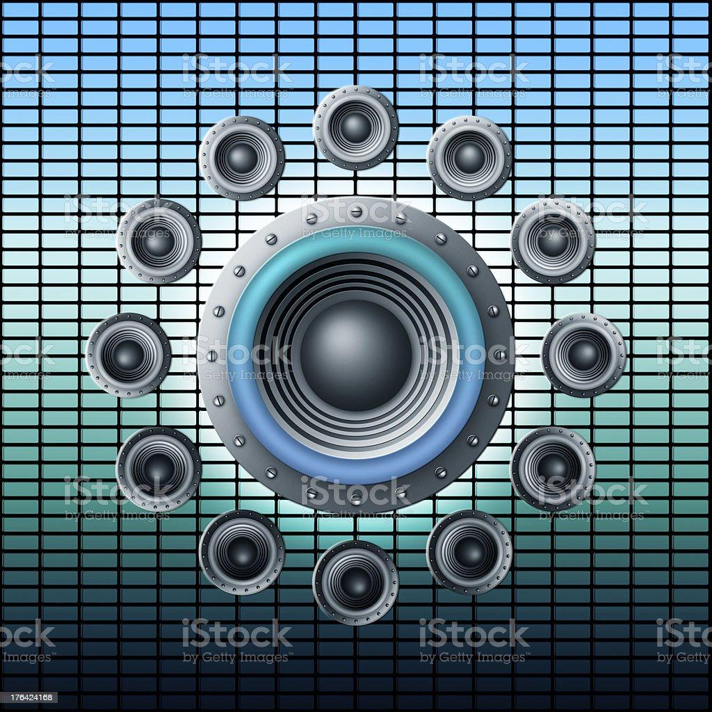 loudspeakers royalty-free stock vector art
