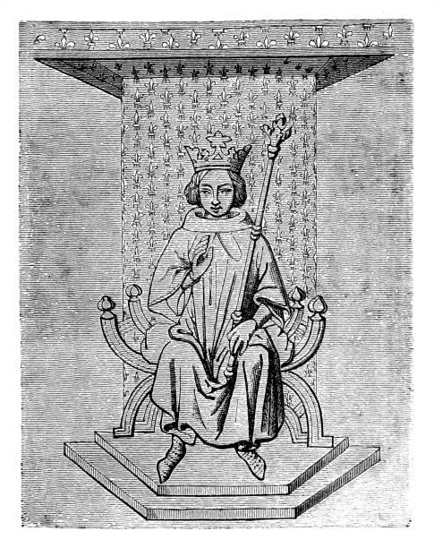 людовик ix франции - st louis stock illustrations