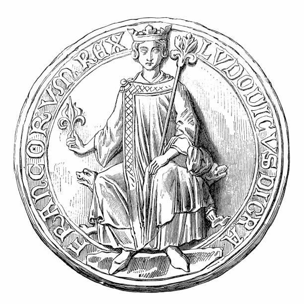 louis ix or saint louis, ludwig ix., 1214-1270, a capetian king of france - st louis stock illustrations