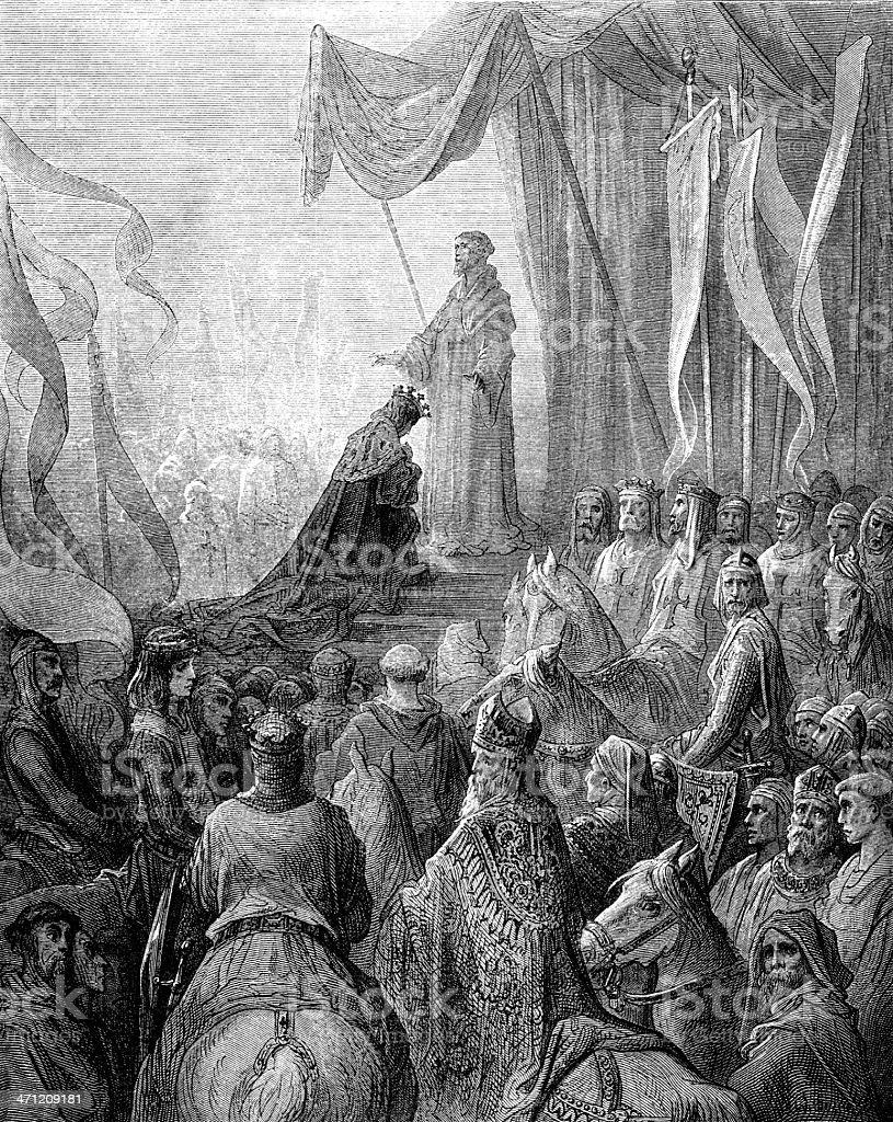 Louis VII royalty-free stock vector art