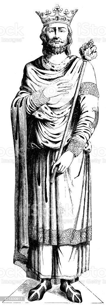 Louis VII vector art illustration