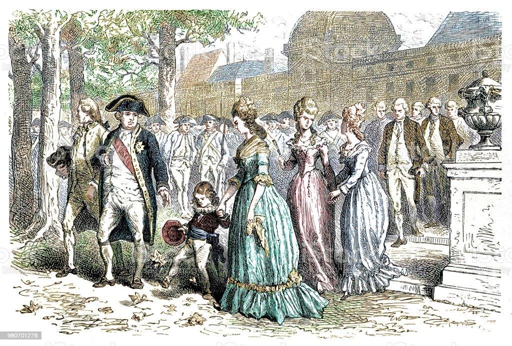 ルイ 16 世とマリー アントワ ネットと彼らの息子チュイルリー公園パリ ...