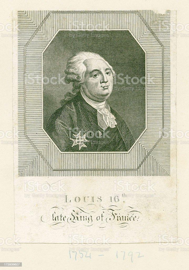Louis XVI (XXXL) royalty-free stock vector art