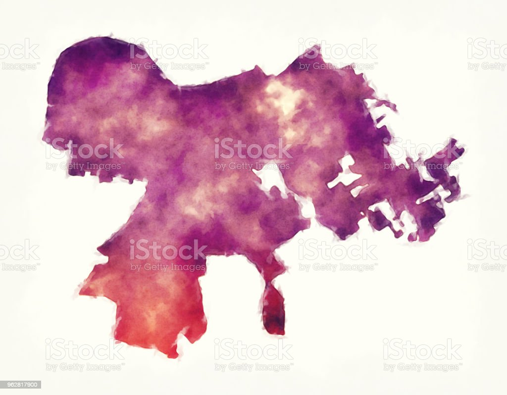 Louisville Kentucky city watercolor map in front of a white background vector art illustration