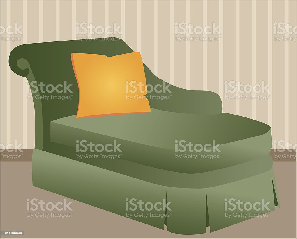 Chaise Lounge royalty-free stock vector art