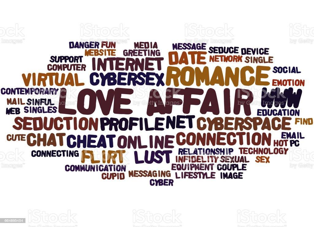 Love Affair Word Cloud Concept  Royalty Free Stock Vector Art