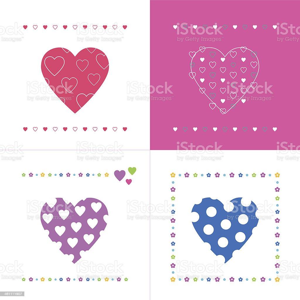 Love And Friendship Greeting Cards Collection Stockvectorkunst En