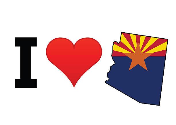 I Love Arizona vector art illustration