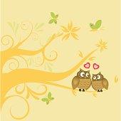 Vector illustration of love birds - valentine greetings!!!